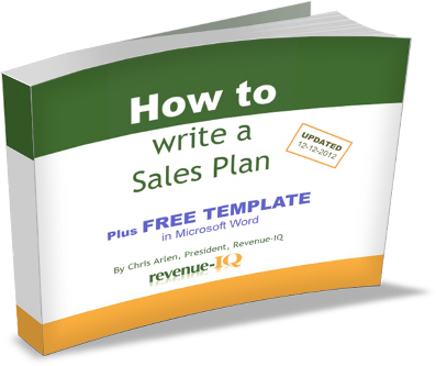 Free Ebook - How to Write a Sales Plan, plus Free Plan Temple