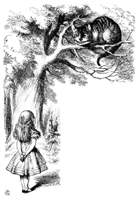 Cheshire Cat and Alice