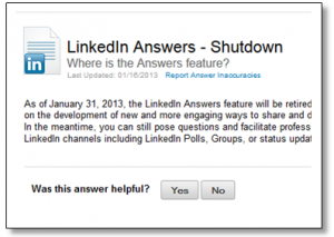 LinkedIn Answers Expires