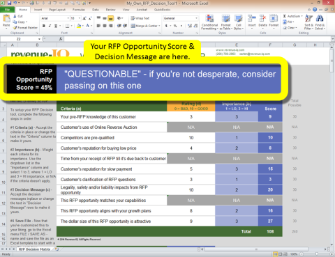 How to Use - Decision Answer: RFP Decision Tool