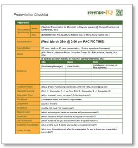 Presentation Preparation Checklist