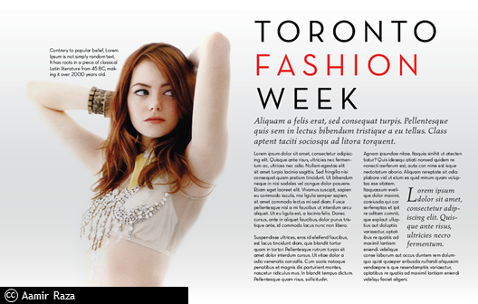 Proposal Couture Fashion Magazine Style