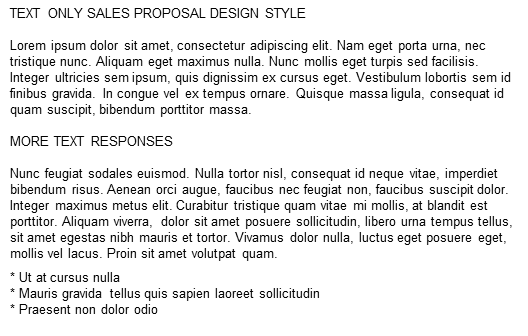 Proposal Couture Text Only Style